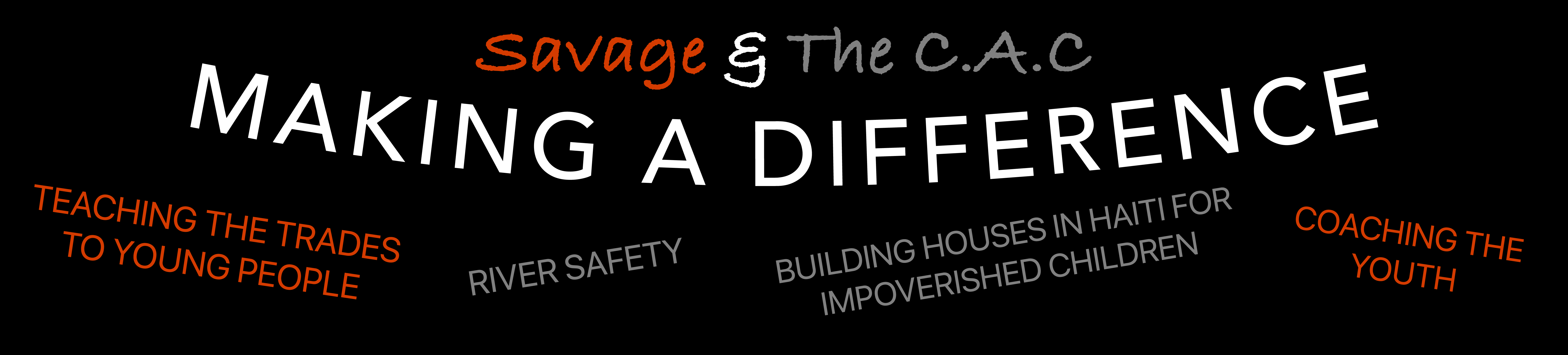 MAKING A DIFFERENCE website banner