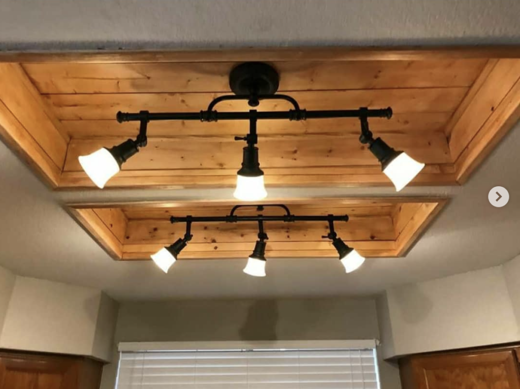 Stained-recessed-shiplap-with-rustic-light-fixtures-1024x767